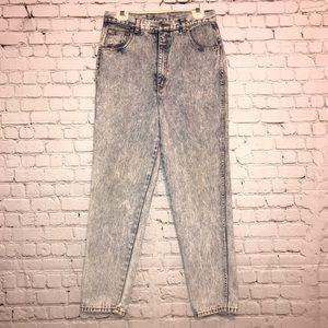 Braxton Acid Washed Straight Leg Vintage Jeans